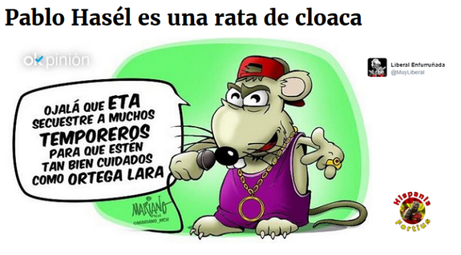 Pablo Hasél es una rata de cloaca. -Liberal Enfurruñada/OK Diario-