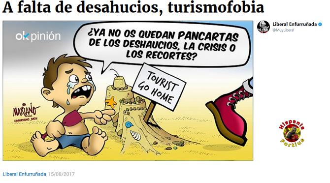 A falta de desahucios,turismofobia. -Liberal Enfurruñada/OK Diario-