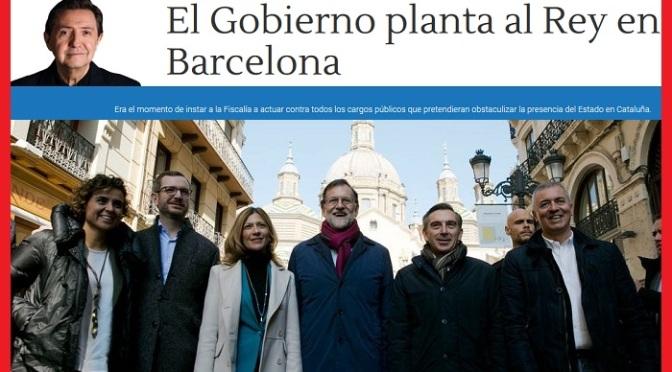 El gobierno planta al Rey en Barcelona. -F.J. Losantos/LD-