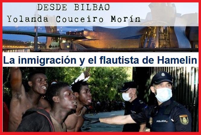 La inmigración y el flautista de Hamelin. -Yolanda Couceiro Morín/La Tribuna del País Vasco-